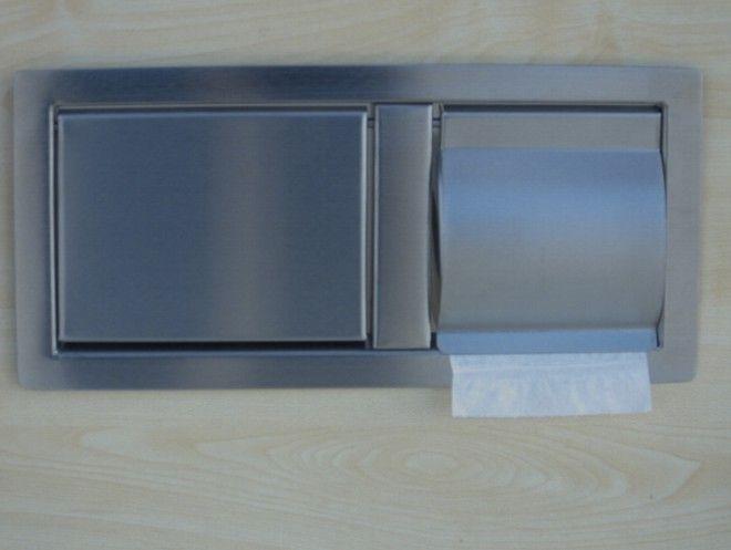 nierdzewna klapa wrzutowa z podajnikiem papieru toaletowego Fobar