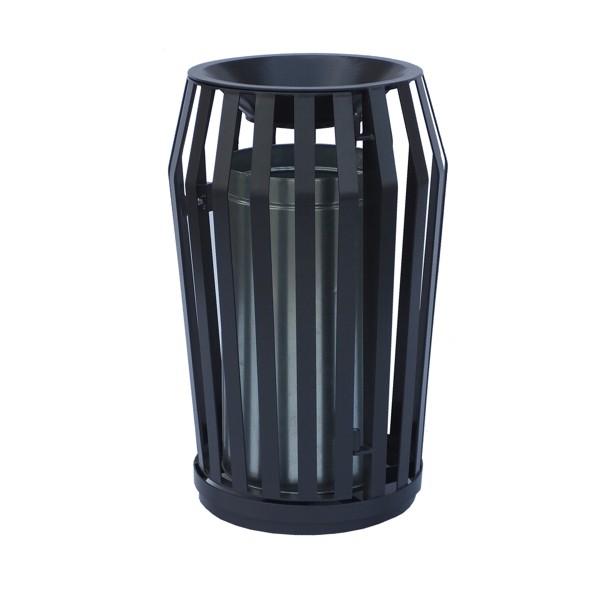Kosze na śmieci uliczne KMS6 120 litrów antywandal