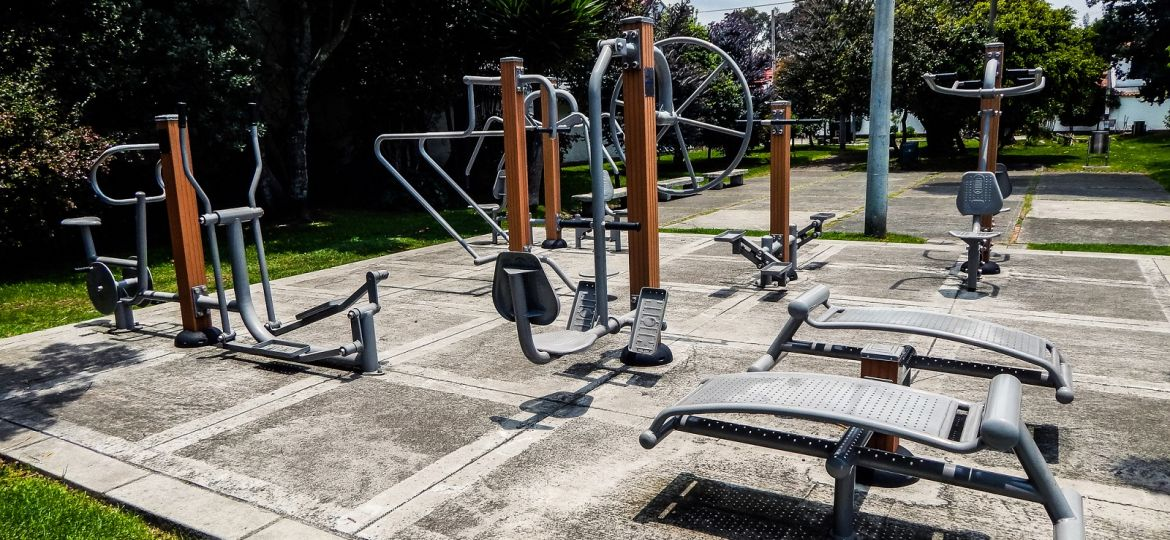 Free outdoor gym in a public park